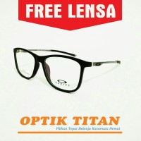 Harga frame kacamata minus baca pria wanita 0186 hitam doff | antitipu.com
