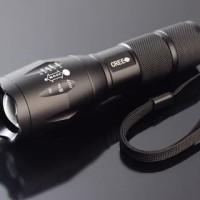 Paket Komplit - Senter LED E17 ORIGINAL-Senter LED Cree XM-L T6 2000L