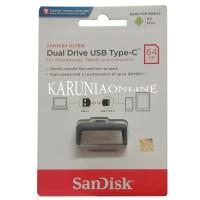 SANDISK FLASHDISK USB 3 OTG TYPE C 64GB /UP TO komputer computer murah