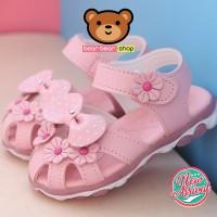 Sepatu Sendal Anak Bayi Perempuan LED Murah Import