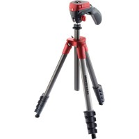 Tripod Kamera Terbaik Manfrotto MKCOMPACTACN RD Compact Action Red
