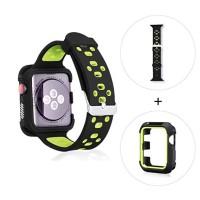 strap apple watch iwo nike series bonus silicon rubber case black