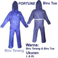 Fortune Jas Hujan Stelan Jaket Celana Parasut Taslan Bahan Seperti
