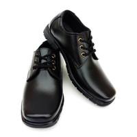 Globy - Sepatu Pantofel Anak Laki-Laki Hitam Tali - Sepatu Formal Anak