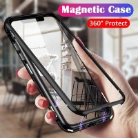 SARUNG HP MAGNETIC + TEMPERED GLASS - iPhone Xs X Ten 10 9 8 7 + Plus