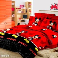 Sprei Jaxine Micro Tencel Mickey Red 1200x200x20