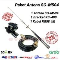 Harga paket antena rig mobil sg 504 duelband radio | antitipu.com