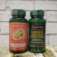Puritan's Garcinia Cambogia 500 mg+ Green Coffee Bean Extract 800 Mg