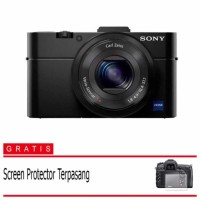Sony Kamera Cyber-shot RX100 Mark III - Hitam Free Screenguard 1a