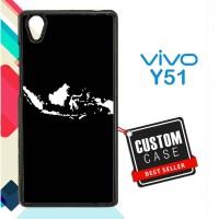 peta indonesia W5029 Casing HP Vivo Y51 Custom Case Cover