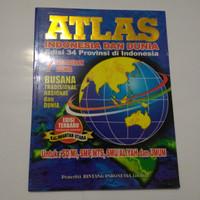 BUKU  ATLAS INDONESIA DAN DUNIA (besar)