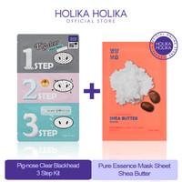 [BUNDLING]Pig-nose Clear Blackhead 3 Step Kit+Pure Essence Shea Butter
