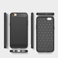 Softcase Armor Carbon Rugged Slim Matte Cover Case Casing HP Oppo F3