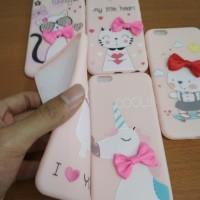 Softcase TPU 3D Pink Cute Cartoon Slim Case Cover Casing HP Oppo F3