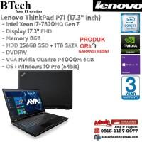 LENOVO ThinkPad P71 MBWS Intel Core i7-7820HQ/8GB/1TB + 256GB/Win10Pro