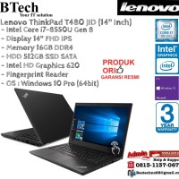 LENOVO ThinkPad T480 JID Intel Core i7-8550U/16GB/512GB SSD/Win10Pro