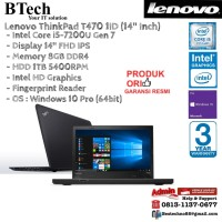 LENOVO ThinkPad T470 1ID Intel Core i5-7200U/8GB/1TB/Win10Pro