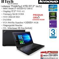 LENOVO ThinkPad P70 9ID Intel Core i7-6820HQ/16GB/256GB SSD/Win10Pro