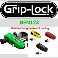 Grip Lock kunci pengaman motor anti maling - Hijau muda