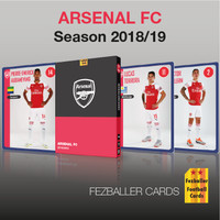 kartu bola Fezballer Card ARSENAL FC Premier League season 2018/2019