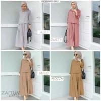 Busana baju dress syari gamis Muslimah Wanita Dewasa Terbaru TS127