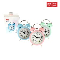 Usupso Small Circle Alarm Clock / Jam Weker