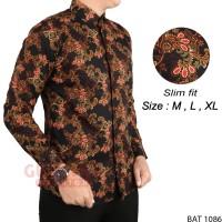 Harga baju batik pria kemeja etnik modern bat | antitipu.com