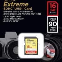 SanDisk SDHC EXTREME 16GB 90MB/s Class 10 Memory Kamera SD Card 16 GB
