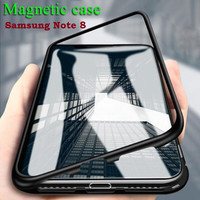 YZ SAMSUNG GALAXY NOTE 8 - Magnetic Alumunium Tempered Glass Case