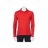 FILA Polo Long Shirt RED ORIGINAL BIGSIZE - Baju Kerah Panjang JUMBO