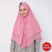 Jilbab Khimar Sasmirra by Yanakoi Hijab Warna Pink Dusty