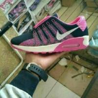 Original Sepatu Replika Nike Air Max Printing 2 Warna Hitam Pink Mura