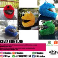 COVER HELM STITCH BIRU, PINK, MERAH / HELM ELMO FULLFACE DAN HALFFACE