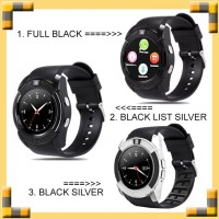 Smartwatch V8 BLACK / Smart Watch V8 Bluetooth Sim Card Memory Whatsap