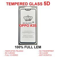 Oppo A3S full screen guard anti gores kaca 3D 4D TEMPERED GLASS 5D