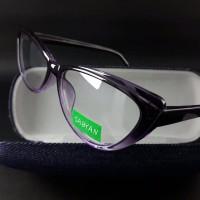JUAL kacamata wanita frame cat eye ungu paket free lensa anti uv 7051016d1f