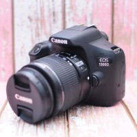 Kamera DSLR Canon 1300d Plus Lensa Komplit Mulus
