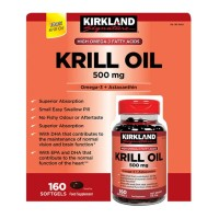 Kirkland Signature Krill Oil 500 mg., 160 Softgels.