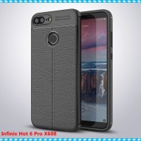 Softcase Serat Carbon Fiber Skin Cover Case Casing Infinix Hot 6 Pro
