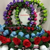 Bunga mahkota / rose flower crown .bunga kuncup lingkar
