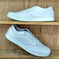 Sepatu Vans Replika Putih Polos | Sepatu Putih | Sepatu Vans OldSchool