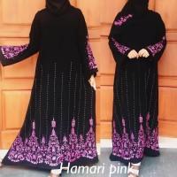 Gamis Hitam turki abaya arab jubah busana muslim wanita terlaris