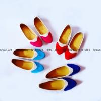 Sepatuafa - Flat shoes sepatu teplek Wanita Clown Mix AS01 - Merah d9fcd82045