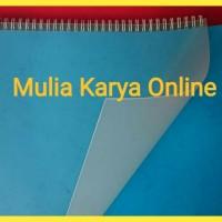 Plastik Mika Cover Jilid Doff 0.30 Tebal isi 10 lembar