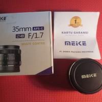 Lensa fix manual mirrorless Fujifilm Meike 35mm f1.7