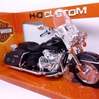 Harga murah miniatur diecast motor moge klasik harley davidson road   Hargalu.com