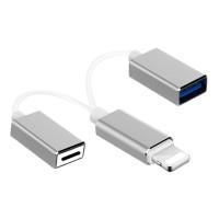 2in1 Lightning to USB OTG + Lightning Charging Port Cable Kabel