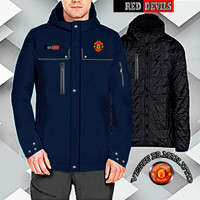 Jaket Parasut MU anti air reversible bolak balik