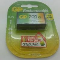 Baterai Kotak Isi Ulang 9V merk GP Rechargeable NiMH 20 Limited