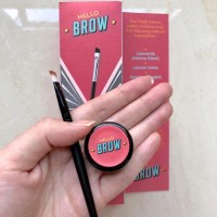 Hello Brow Set A Warna Coklat (Henna + Kuas)